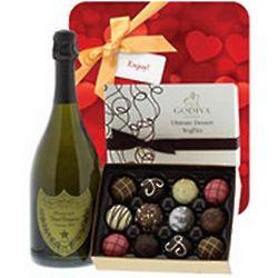 Dom Perignon and Godiva Romance Gift Set