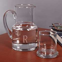 Personalized Glass Carafe and Glass