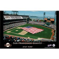 San Francisco Giants Personalized Stadium 16x24 Canvas