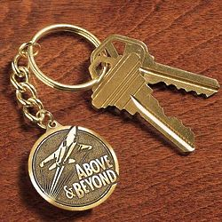 Above and Beyond Medallion Key Chain