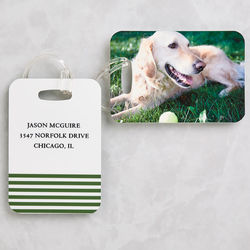 Love My Pet Personalized Photo Luggage Tag Set