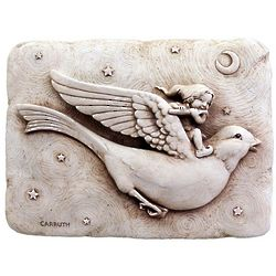 Flying Bird and Elf Wall Plaque