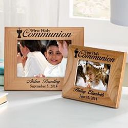 First Communion Personalized 3.5x5 Wood Frame