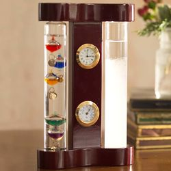 Galileo Weather Station With Fitzroy Storm Glass And Clock