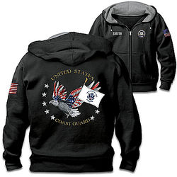 Coast Guard Pride Hoodie with Personalized Name
