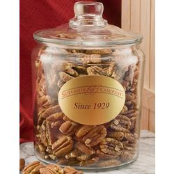 Mammoth Pecans in a Glass Jar