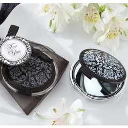 Black & White Compact Mirror Favor