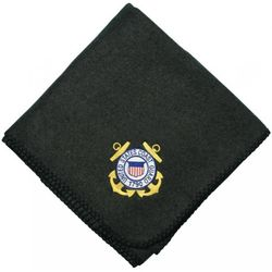 US Coast Guard Crest Embroidered Blanket