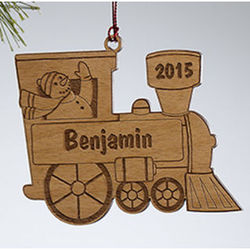 Personalized Holiday Train Christmas Ornament