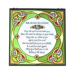 Irish Blessing Stained Glass