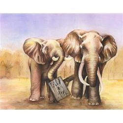 Elephant Love Personalized Print