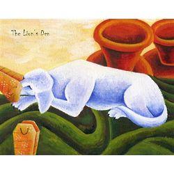 The Lion's Den Personalized Art Print