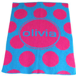 Personalized Stroller Blanket with Polka Dots