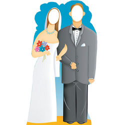 Wedding Couple Stand-In Stand-Up