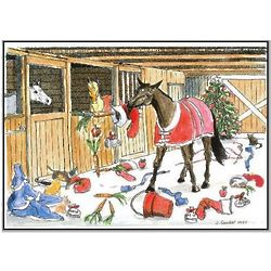 US Equestrian Humorous Horse Christmas Card