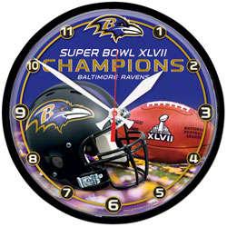 Baltimore Ravens Super Bowl XLVII Champions Round Wall Clock