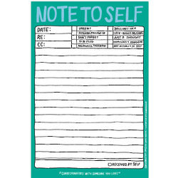 Hand-Lettered Note to Self Notepad