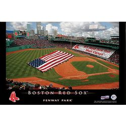 Personalized Boston Red Sox Stadium 24x36 Canvas