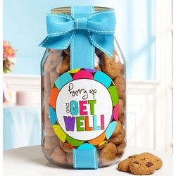 Hurry Up and Get Well Chocolate Chip Cookie Jar
