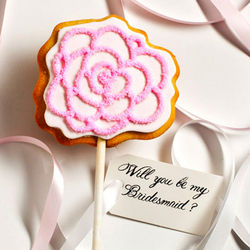 Personalized Rose Wedding Cookie Card