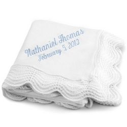 White Christening Baby Blanket