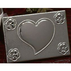 Two-Piece Compact Mirror with Heart Design