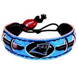 Carolina Panthers Leather Football Bracelet