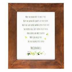 Personalized Irish Blessing Framed Art Print