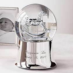 Personalized Rocking Horse Snow Globe