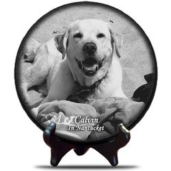 Engraved Pet Photo on Marble