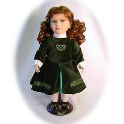 Enya the Irish Dancer Porcelain Doll