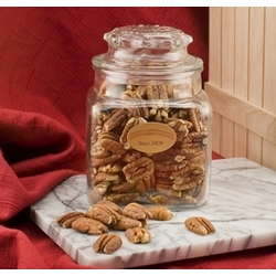 Mammoth Pecans in a Decanter
