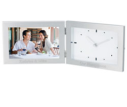 Personalized Silver Picture Frame Clock