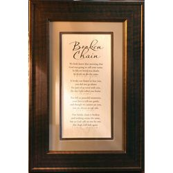 Broken Chain Poem in Classic Frame