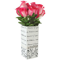 Personalized Rectangle Wedding Vase