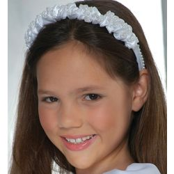 Satin & Pearl First Communion Head Band