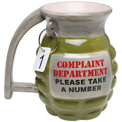 Complaint Department Grenade Mug