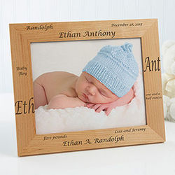 New Arrival Personalized 8x10 Baby Picture Frame
