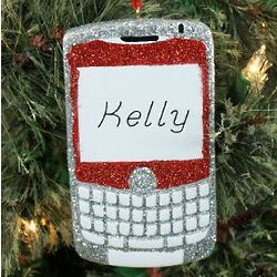 Personalized Text Phone Ornament