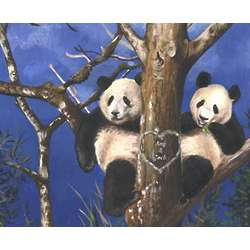 Pandas in Love Personalized Print