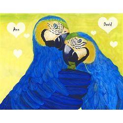 Love Birds IV Personalized Art Print