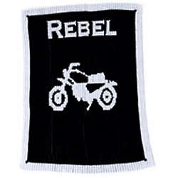 Personalized Stroller Blanket with Name and Motorcycle