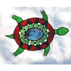 Stained Glass Turtle Window Hanging