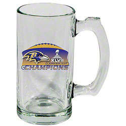 Baltimore Ravens Super Bowl Champions Glass Mug