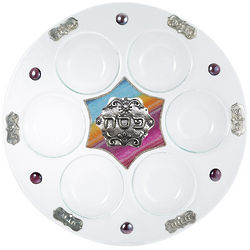 Decoupage Glass Seder Plate