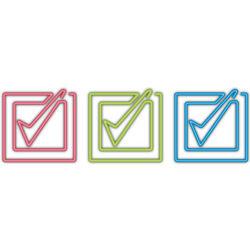 Colored Checkmark Paper Clips