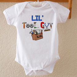 Little Tool Guy Personalized Baby Bodysuit