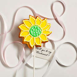 Personalized Sunflower Cookie Card