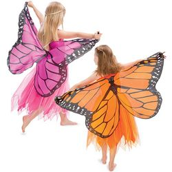 Fanciful Fabric Butterfly Dress with Wings