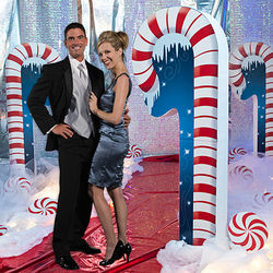 Candy Cane Standee Prop
